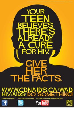 Your teen believes there's already a cure for HIV. Give her the facts.
