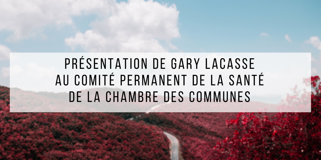 Pr sentation de gary lacasse au comit permanent de la for Chambre des communes