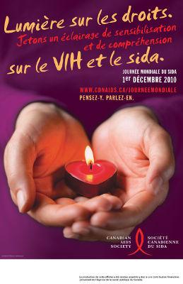 2010 : Lumière sur les droits. Jetons en éclairage de sensibilisation et de compréhension sur le VIH et le sida.
